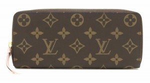 Louis Vuitton LOUIS VUITTON Louis Vuitton Monogram Portefoille Clemence Round Zipper Long Wallet Rose Ballerine Pink M61298