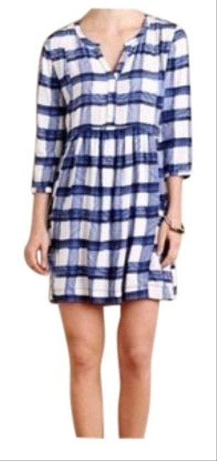 Anthropologie Blue/White Maeve Devery Short Casual Dress Size 4 (S) Anthropologie Blue/White Maeve Devery Short Casual Dress Size 4 (S) Image 1