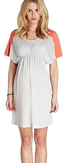 Item - Grey/Coral Ella Knitted Short Casual Dress Size 2 (XS)