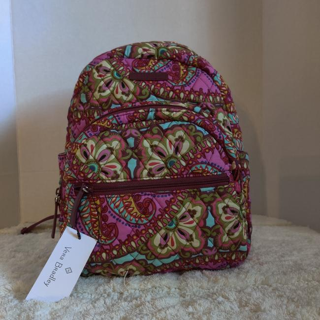Item - Essential Compact Printed Purple Cotton Backpack