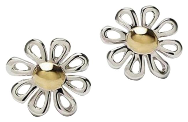 Item - Silver Gold Paloma Picasso Daisy 18k Earrings