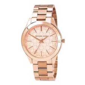 Michael Kors Michael Kors Women's SLIM RUNWAY ROSE GOLD MONOGRAM MK 3336 WATCH