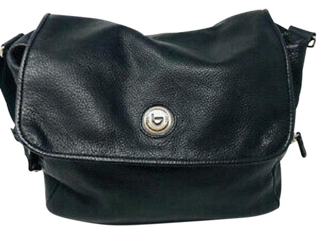 Item - Diaper Purse Black Leather Messenger Bag