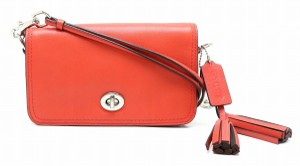 Coach Red color Clutch