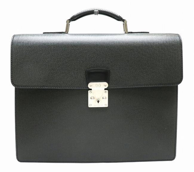 Item - Selviet Moscova Briefcase Business M30032 Ardoise / Ardoise / Black / White Taiga Leather Messenger Bag