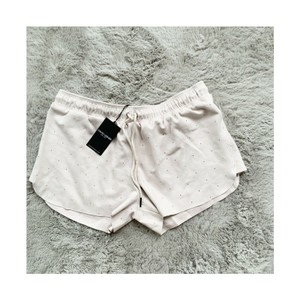 David Lerner Studded Cutoff Casual Comfortable Suede Pink Shorts