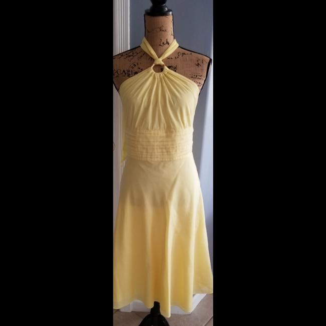 Item - Pale Yellow Formal Cocktail Dress Size 8 (M)