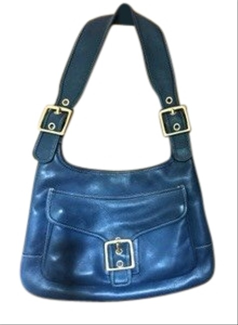 Item - No.g3q-9340 Blue Leather Baguette