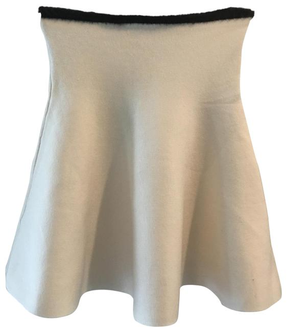 Item - Tank Or Skirt with Tiny Feathers. It's Retro Off White and Black. Top