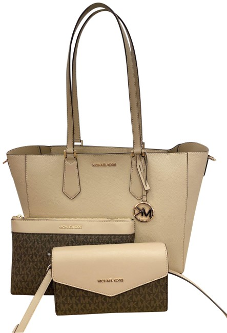 Item - Crossbody Kimberly 3 In + Wallet Set Bisque Leather Tote