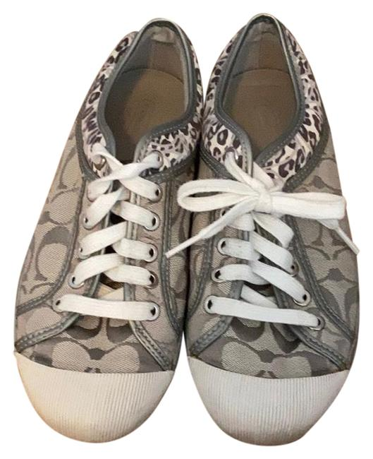 Item - White and Silver Zorra Sneakers Size US 8 Regular (M, B)