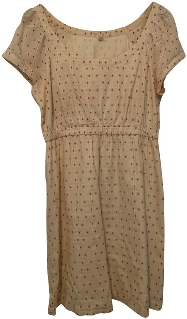 J.Crew Cream with Red Polka Dots Short Casual Dress Size 6 (S) J.Crew Cream with Red Polka Dots Short Casual Dress Size 6 (S) Image 1