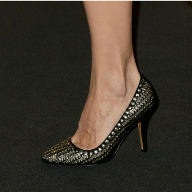 Item - Silver Beaded Pointy Toe Suede Pumps Size EU 37 (Approx. US 7) Regular (M, B)