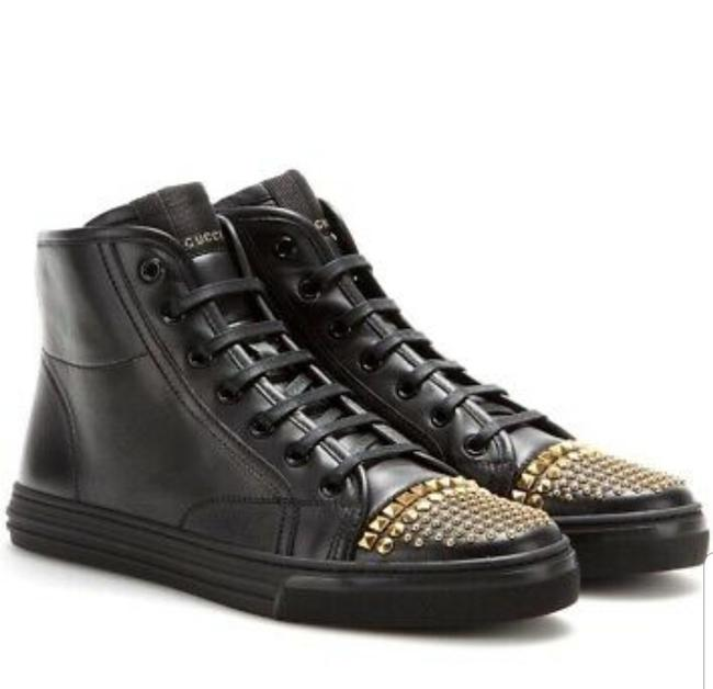 Item - Black High Top Studded Leather Sneakers Size EU 40 (Approx. US 10) Regular (M, B)
