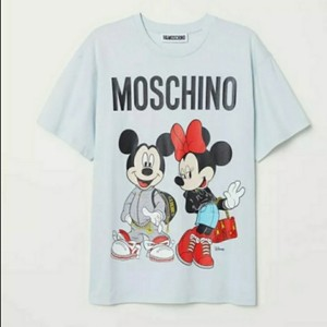 MOSCHINO [tv] H&M T Shirt Blue