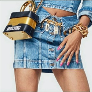MOSCHINO [tv] H&M Mini Skirt Blue