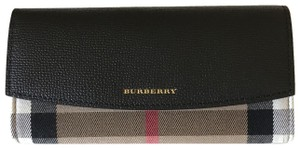 Burberry Black House Check and Leather Continental Wallet