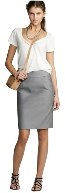 Item - Cream Stretch Double-serge Pencil Skirt Size 10 (M, 31)