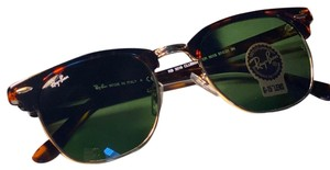 Ray-Ban Ray Ban Clubmaster Polished Tortoise Green Classic G-15.