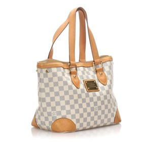 Louis Vuitton 0flvto025 Vintage Leather Tote in White