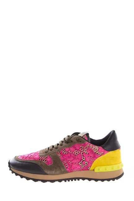 Item - Green Suede Rock-stud Pink Lace Sneakers Size EU 38 (Approx. US 8) Regular (M, B)