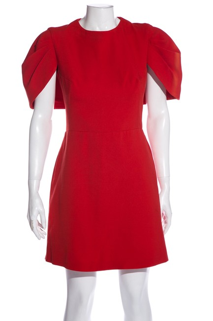 Item - Red Crew Neck Mini Short Cocktail Dress Size 6 (S)