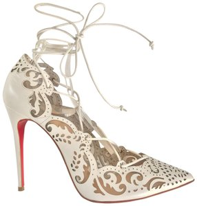 Christian Louboutin worn once white and transparent Pumps