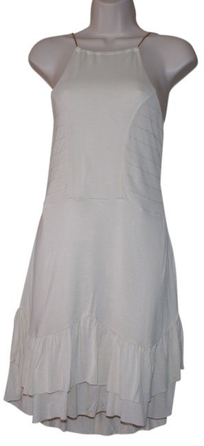 Preload https://item3.tradesy.com/images/ivory-cream-rayon-stretch-jersey-spaghetti-strap-ruffle-sizel-above-knee-cocktail-dress-size-12-l-2757337-0-0.jpg?width=400&height=650