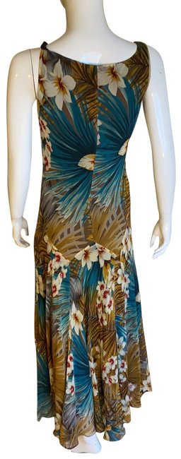 Item - Flower Print Long Casual Maxi Dress Size 8 (M)