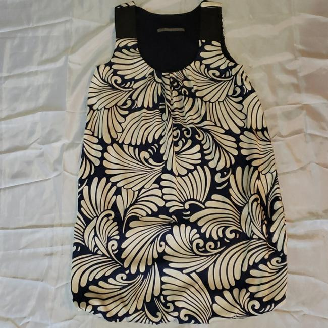 Item - Blue and White Basic Ladies Floral Cocktail Party Stretch Short Casual Dress Size 6 (S)