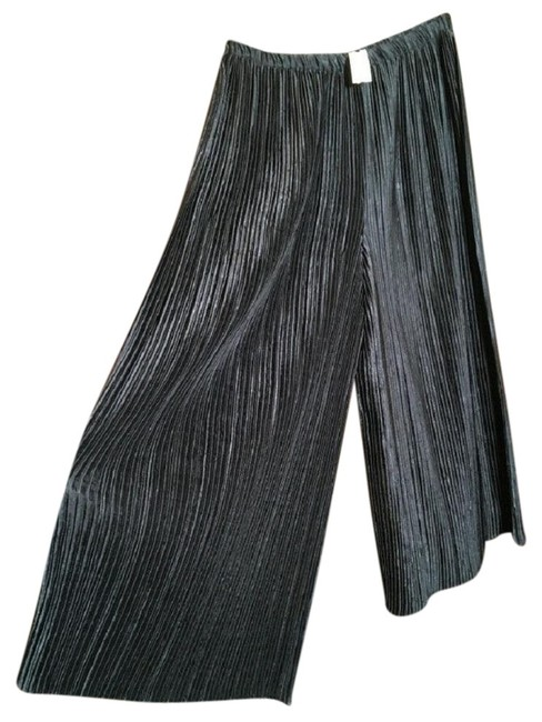 Jeanne Marc Black Pleated Evening Pants Size 2 (XS, 26) Jeanne Marc Black Pleated Evening Pants Size 2 (XS, 26) Image 1