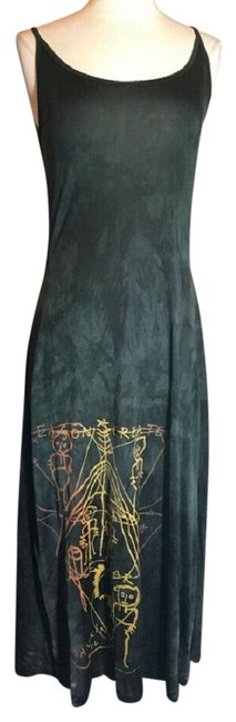 Item - Teal Jersey Silk Long Casual Maxi Dress Size 6 (S)