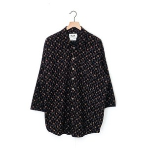 FLAX Cotton Corduroy Floral Oversized Tunic