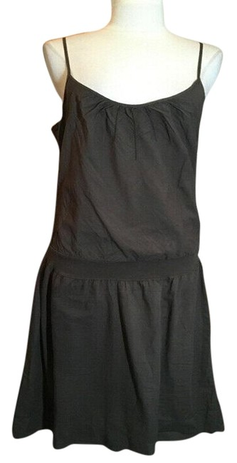 Item - Brown Cotton Midi Summer Mid-length Short Casual Dress Size 6 (S)