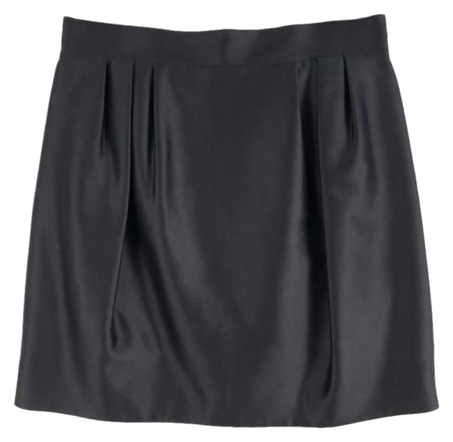 Item - Black Silk Pleated Bubble 42 Cocktail Evening Skirt Size 8 (M, 29, 30)