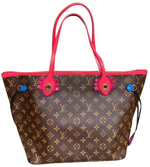Louis Vuitton Neverfull Mm Monogram Limited Edition Multicolor Canvas Tote Louis Vuitton Neverfull Mm Monogram Limited Edition Multicolor Canvas Tote Image 1