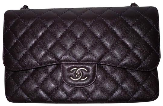 Preload https://img-static.tradesy.com/item/27575915/chanel-classic-flap-classic-jumbo-double-dark-purple-caviar-leather-cross-body-bag-0-9-540-540.jpg