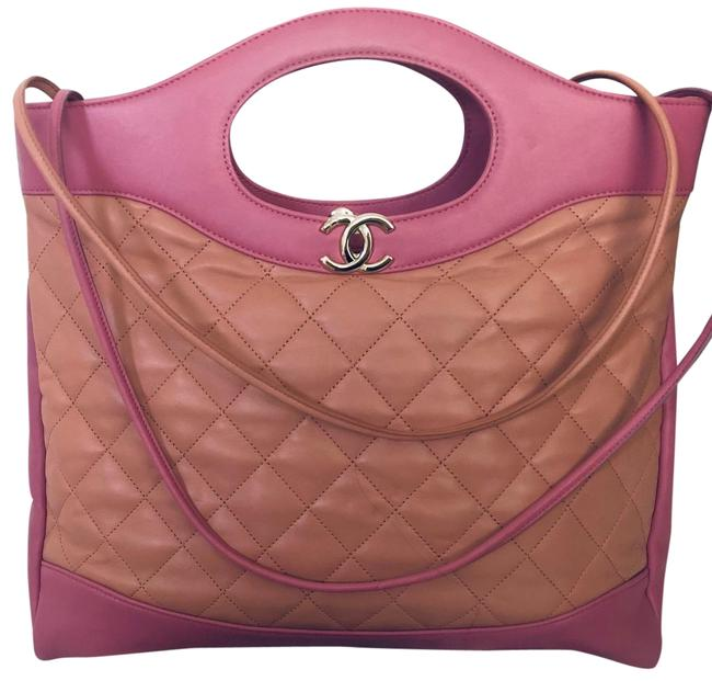 Item - Shopping Bag 2019 Large Quilted 31 Pink Lambskin Leather Tote