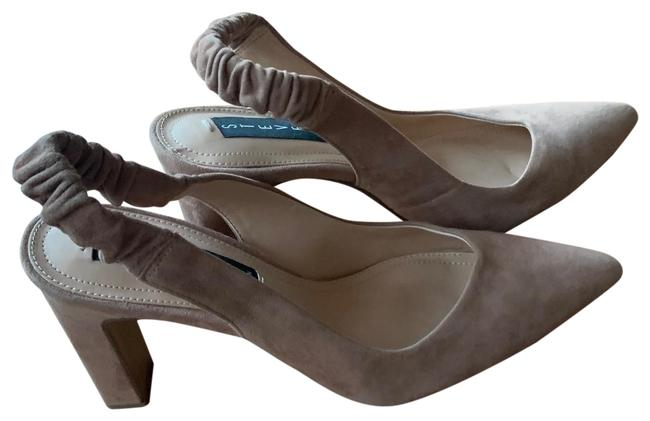 Item - Tan Jara Stretchy Ankle Straps Pumps Size US 8 Regular (M, B)