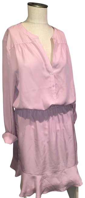 Item - Pink Acey Short Work/Office Dress Size 16 (XL, Plus 0x)