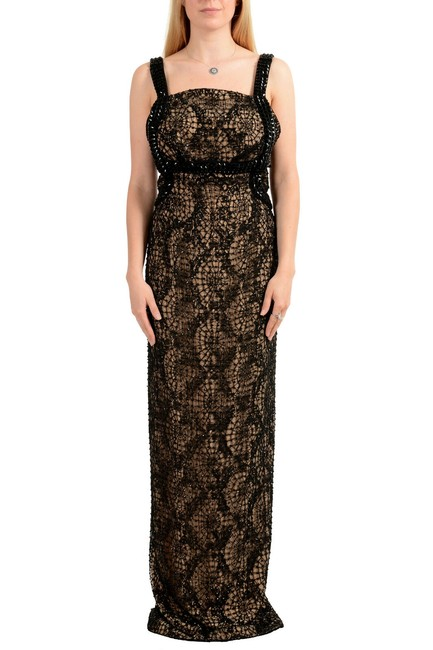 Versace Black Women's Open Embellished Evening Long Formal Dress Size 4 (S) Versace Black Women's Open Embellished Evening Long Formal Dress Size 4 (S) Image 1