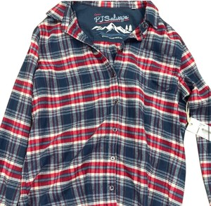 P.J. Salvage Button Down Shirt Red, White, and Blue