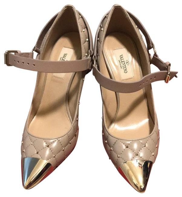 Item - Beige/Tan/Cream with Gold Accents Sku 206809 Formal Shoes Size US 6.5 Regular (M, B)