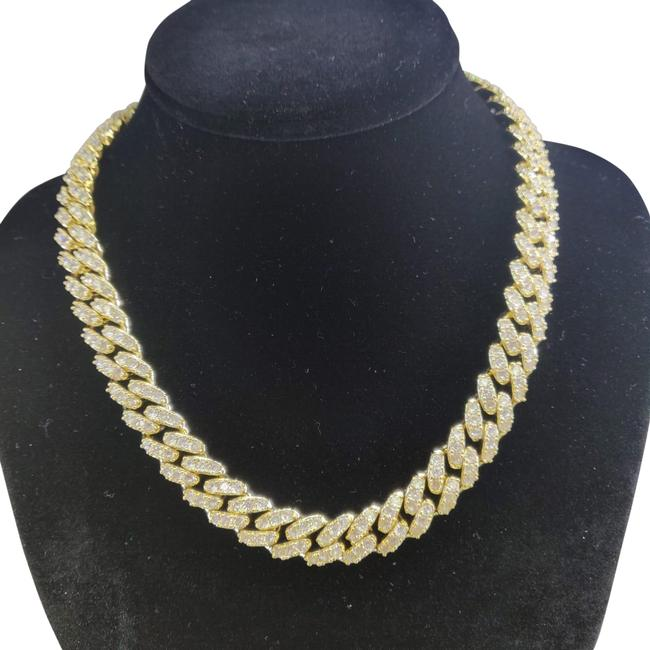 "Item - 18"" 14kt Gold Finished Cuban Chain Necklace"