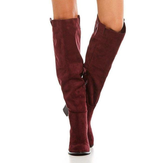 Very Volatile Wine Nate Tall Heeled Boots/Booties Size US 6 Regular (M, B) Very Volatile Wine Nate Tall Heeled Boots/Booties Size US 6 Regular (M, B) Image 4