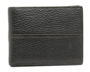 Cartier Cartier saddle stitch 2-fold wallet leather dark brown L3001159