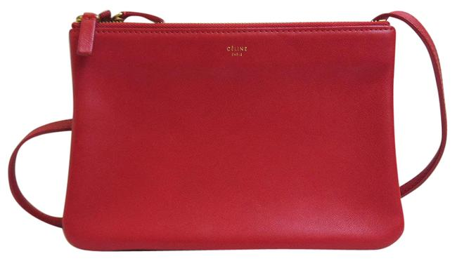 Item - Trio Small Pochette Ladies Lambskin Red Color Leather Shoulder Bag