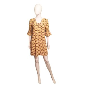 Tracy Negoshian short dress Yellow Purple Floral Size M Size Size M on Tradesy