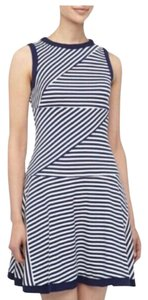 Julia Jordan short dress blue/white Stripe Summer on Tradesy