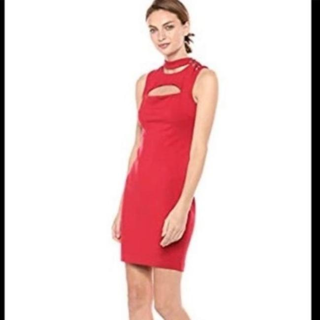 Item - Red Arita Cutout Bodycon Cocktail Short Casual Dress Size 6 (S)